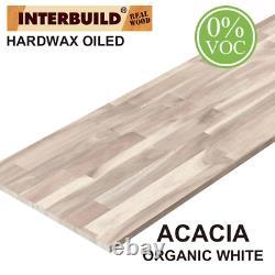 Interbuild Acacia Butcher Block Countertop 96 Po. X 25 Po. Bois Massif Sans Cov