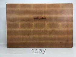 Jobe Woodart Hard Maple Extra Large Bout Grain Butcher Block Cutcher Cutting Board