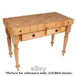 John Boos Cucr05 Table De Travail En Bloc De Boucher Cucina Rustica 48 X 24 X 34-1 / 2