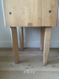 John Boos End-grain Maple Butcher Block Table 24x24x34