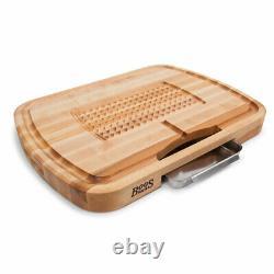 John Boos Maple Wood 24 Pouces Ultimate Carving Board & 3 Pièces Maintenance Set