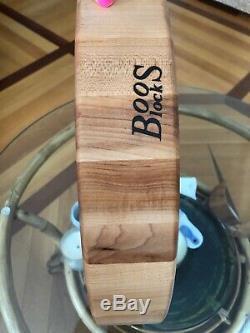 John Boos Maple Wood End Grain Board Coupe Ronde Bloc Butcher, 18 X 3 Nouveau