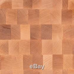 John Boos Planche À Découper En Bloc De Boucher Réversible En Bois D'érable, 20x15