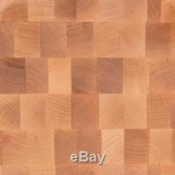 John Boos Planche À Découper En Bloc De Boucher Réversible, Grain De Bois D'érable, 20x15