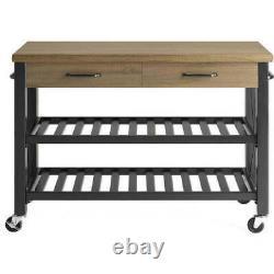 Kitchen Cart Island Table Boucher Block Tv Stand Mobile Rangement Rack De Vin Moderne