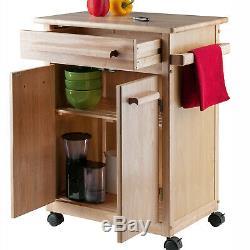 Kitchen Island Chariot Roulant Utilitaire Portable Armoire De Rangement En Bois Butcher Block