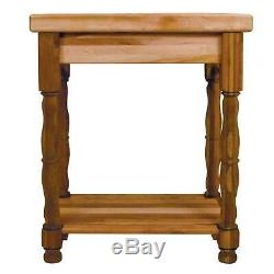 Kitchen Island Jambes Butcher Block Turned Bois Franc Bois Made In USA Nouveau