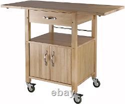Kitchen Island Solide Utilitaire Bois Panier De Roulement De Stockage Butcher Block Cabinet