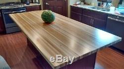 Kitchen Island Top Maple Butcher Block Rh2511 Finition Huile, Épaisseur 1-1 / 2