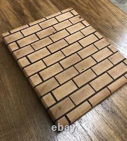 L'autre Brique Dans Le Mur Belle Planche De Coupe De Fin De Grain Maple & Walnut