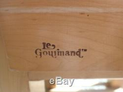 Le Gourmand Kitchen Island - Bloc De Boucher Avec Planche À Découper Et Support De Rangement