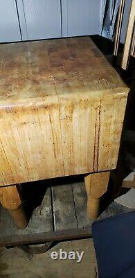 Les Vieux Bouchers Originaux Bloquent Le Boucher Antique De Table Pas Cheesy Nouveau