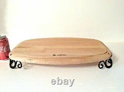 Longaberger Fer Forgé Servir Slice Woodcraft Block Boucher New In Box