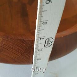 MID Century Dansk Teck Wood Butcher Block Bowl