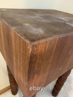 Magnifique Table De Bloc De Boucher De Bois De Cru