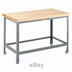 Maple Butcher Block Table, Pied Réglable, 24w X 24d