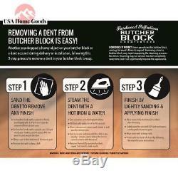 Non Aménagé Birch Butcher Block Comptoir 100% Natural Hardwood 3' X 3' X 1,5