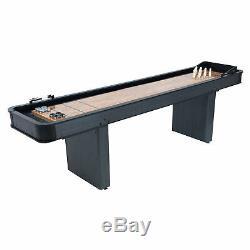 Nouveau 2 En 1 Shuffleboard Bowling Table Arcade Jeu Butcher Block Bois Vintage
