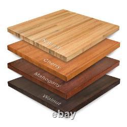 Nouveau 36 Rond Amish-fabriqué En Bois Massif Red Chêne Block Table Top