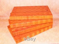 Nouveau Réversible End Grain Board Bois Coupe 2x12x20 Dur De Cerise Butcher Block