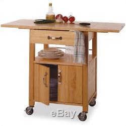 Nouvelle Cuisine Îlot Chariot Utilitaire En Bois Sur Roulettes De Stockage Butcher Block Cabinet