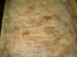Old Antique Vintage Maple Boucher Bloc Approx. 30 Longueur X 30 Largeur X 5-1/2 Épaisseur