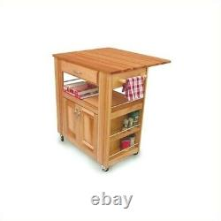 Pemberly Row Heart Of The Kitchen Butcher Block Cart In Natural