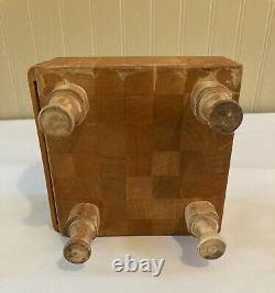 Petite Boucherie Vintage Block Footed Cutting Board Primitive
