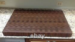 Planche À Découper 3 Grains Épais De Bloc De Boucherie En Noyer 24 X 36 Bois Brun Foncé