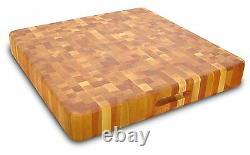 Planche À Découper En Bois De Très Gros Grain Finger Grooves Butcher Block Cutting Board