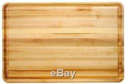 Planche À Découper En Bois Extra-large, Bloc De Boucher En Grain, En Bois Franc Massif, 20 X 30