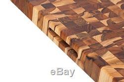 Planche À Découper En Teck, Bloc De Boucher À Bouts Rectangulaires (24 X 18 X 1,5 Po) Par