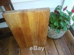 Planche À Découper Wood Butcher Block Vintage Grand 19,5 L Epais Lourd Bois
