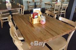 Plateau De Table En Bois Pour Restaurant 1-1 / 2x36x48 De Chêne Rouge Forever Joint
