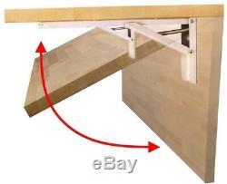 Pliant Workbench 4 Pi. Épais Mur-montable Butcher Block Haut Bois Cadre En Acier