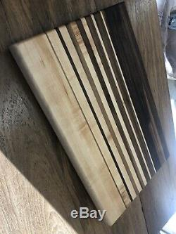 Primo Belle Edge-grains Planche À Découper! Motif Radiant Noyer Et Érable