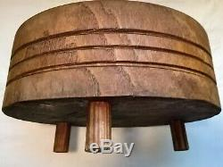 Rare Bloc De Boucherie Primitif Vintage Tuk-away Texas Mftg Co. Euc
