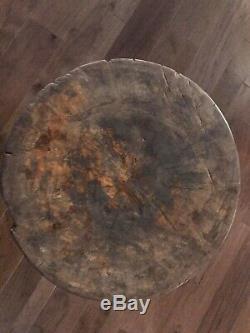 Réduit Antique Broyage / Butcher Block, 22 Diamètre