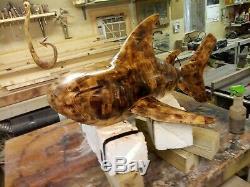 Requin Bloc Butcher Fabriqué À Partir De 1946 Morceaux De Bois