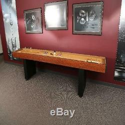 Shuffleboard Table Arcade Jeu Butcher Block Bois Retro Vintage Pub Bar Aléatoire