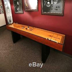 Shuffleboard Table Arcade Jeu Solide Butcher Block Bois Retro Vintage Pub Score