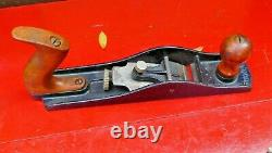 Stanley No 64 Butcher Block Wood Plane Bas Angle Fond Lisse