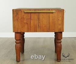 Table Américaine Vintage De Bloc De Boucher