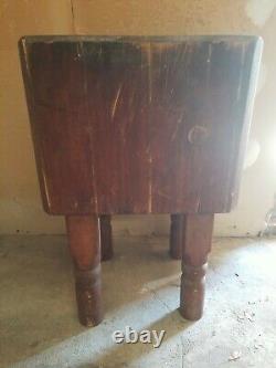 Table Antique De Bloc De Boucher 30x18x18