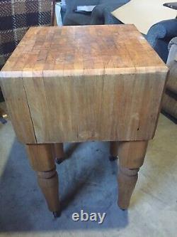 Table Antique De Bloc De Boucher 32.5x18x18