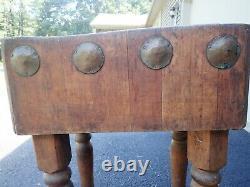 Table Antique De Bloc De Boucher En Bois D'érable