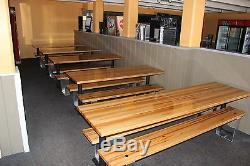 Table Commerciale Commerciale 1-1 / 2x30x36 Avec Plateau Supérieur En Blocs D'érable Dur Pour Toujours Rock