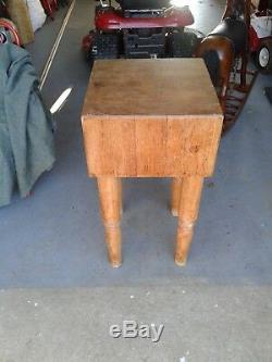 Table De Bloc À Découper Antique En Érable Et Bois