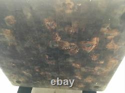 Table De Bloc De Boucher En Bois Antique 36 X 36 X 30 Haute