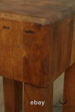 Table De Bloc De Boucher En Bois D'érable D'érable De Cru